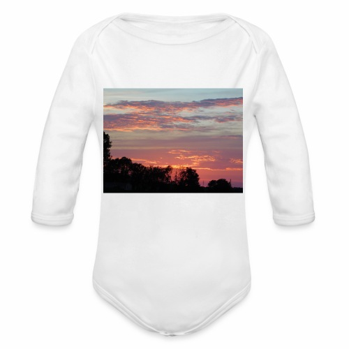 Sunset of Pastels - Organic Long Sleeve Baby Bodysuit