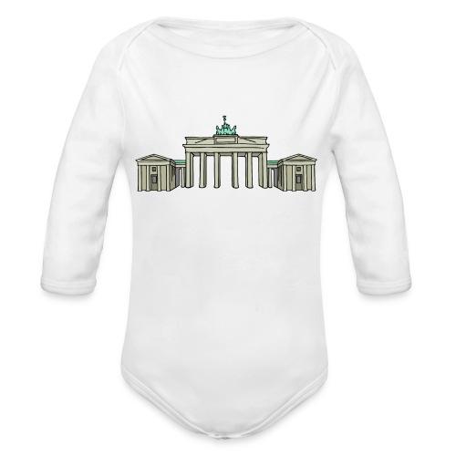 Brandenburg Gate Berlin - Organic Long Sleeve Baby Bodysuit