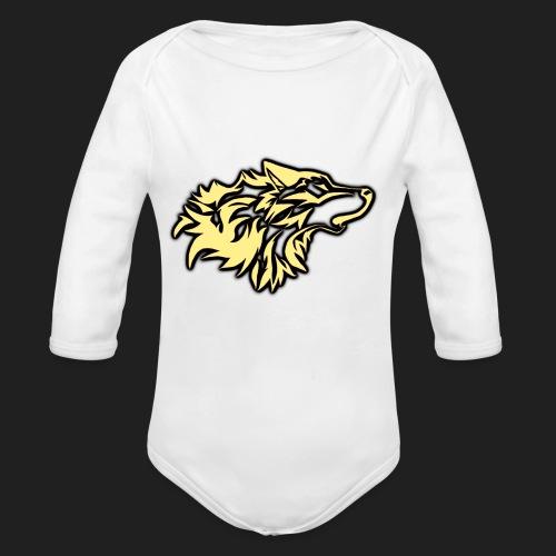wolfepacklogobeige png - Organic Long Sleeve Baby Bodysuit