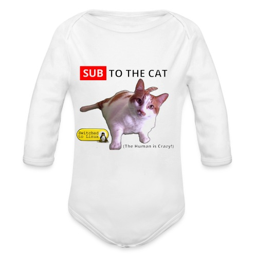 Sub to the Cat - Organic Long Sleeve Baby Bodysuit