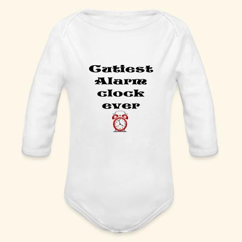 baby alarm - Organic Long Sleeve Baby Bodysuit