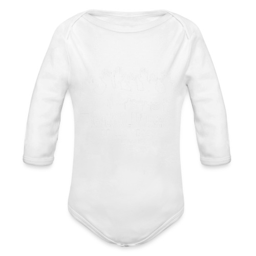 White logo SVLV - Organic Long Sleeve Baby Bodysuit