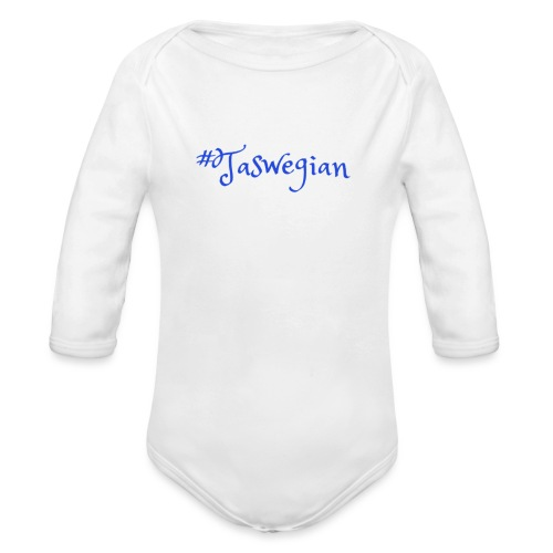 Taswegian Blue - Organic Long Sleeve Baby Bodysuit