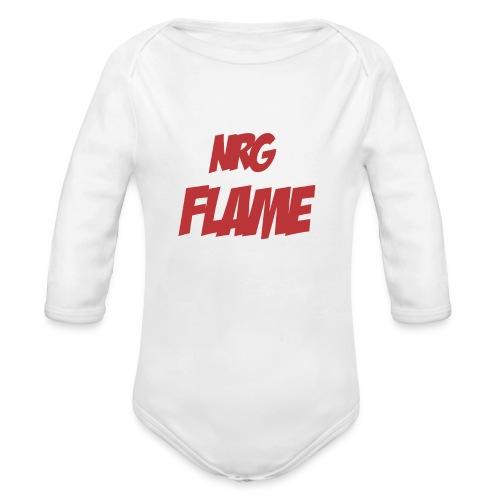 FLAME - Organic Long Sleeve Baby Bodysuit