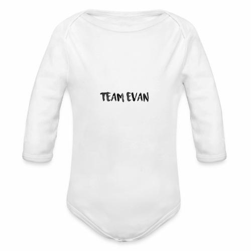 TEAM EVAN - Organic Long Sleeve Baby Bodysuit