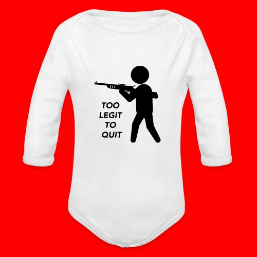 OxyGang: Too Legit To Quit Products - Organic Long Sleeve Baby Bodysuit