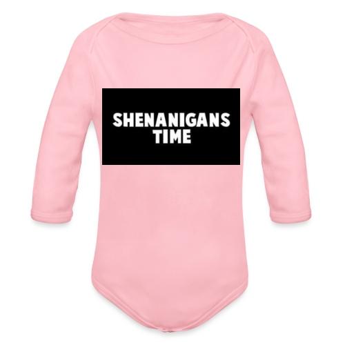 SHENANIGANS TIME MERCH - Organic Long Sleeve Baby Bodysuit