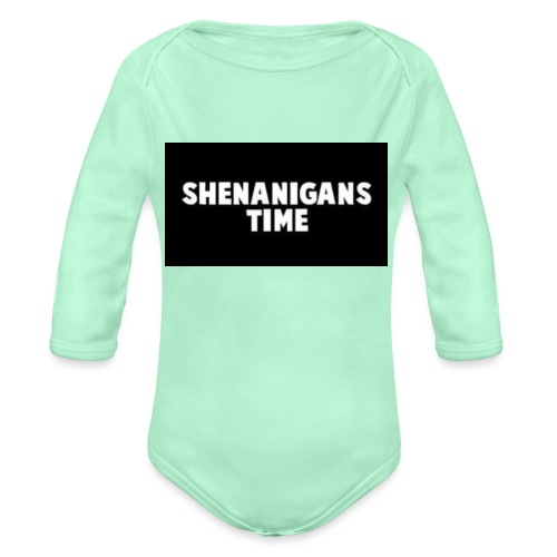 SHENANIGANS TIME MERCH - Organic Long Sleeve Baby Bodysuit
