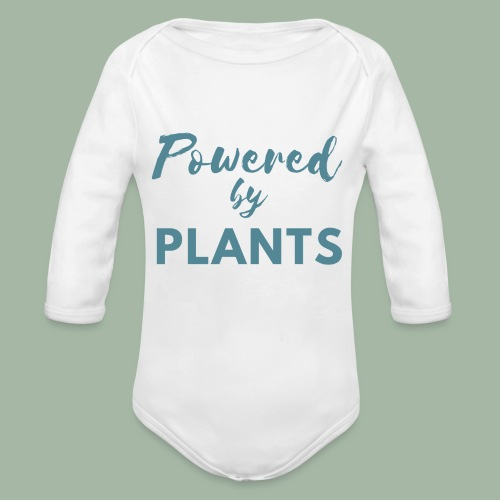Powered by Plants - Organic Long Sleeve Baby Bodysuit