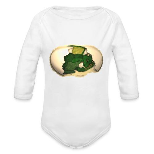 The Emerald Dragon of Nital - Organic Long Sleeve Baby Bodysuit