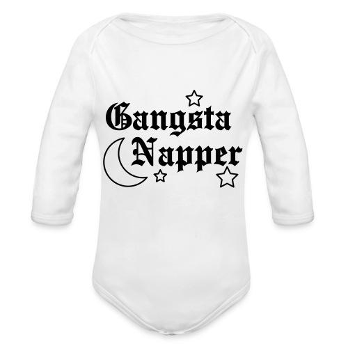 GANGSTA NAPPER - Organic Long Sleeve Baby Bodysuit