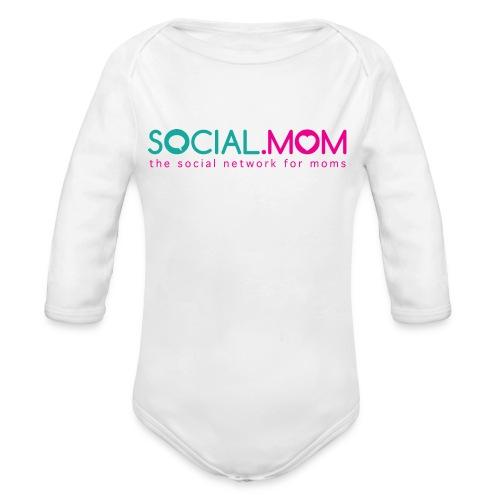 Social.mom Logo English - Organic Long Sleeve Baby Bodysuit