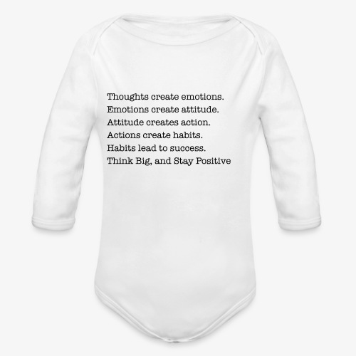 think big - Organic Long Sleeve Baby Bodysuit