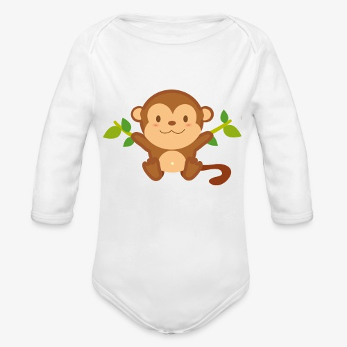 Baby Monkey - Organic Long Sleeve Baby Bodysuit