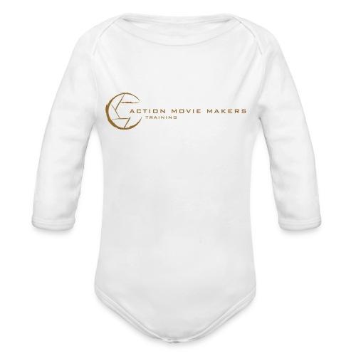AMMT Logo Modern Look - Organic Long Sleeve Baby Bodysuit