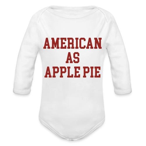 American as Apple Pie - Organic Long Sleeve Baby Bodysuit