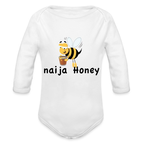 naija honey... - Organic Long Sleeve Baby Bodysuit