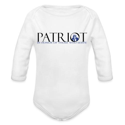 PATRIOT_SAM_USA_LOGO - Organic Long Sleeve Baby Bodysuit