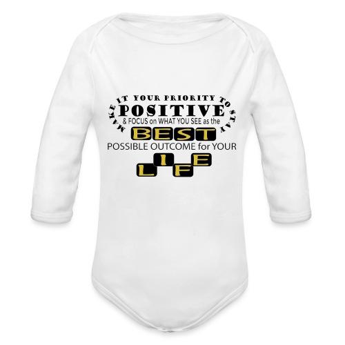 PJeans3 - Organic Long Sleeve Baby Bodysuit