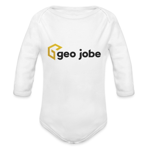 GEO Jobe Corp Logo - Black Text - Organic Long Sleeve Baby Bodysuit