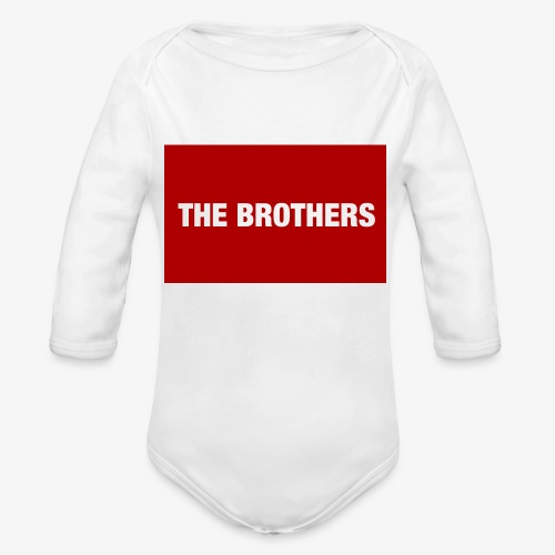 The Brothers - Organic Long Sleeve Baby Bodysuit