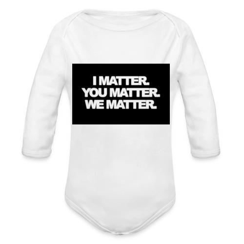 We matter - Organic Long Sleeve Baby Bodysuit