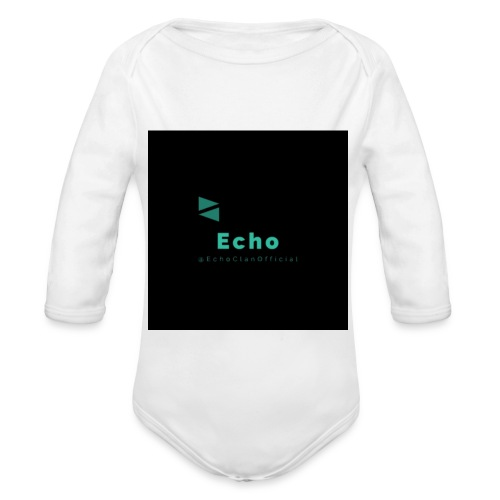 Echo Clan Offical Logo Merch - Organic Long Sleeve Baby Bodysuit