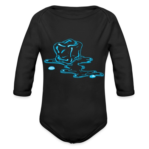 Ice melts - Organic Long Sleeve Baby Bodysuit