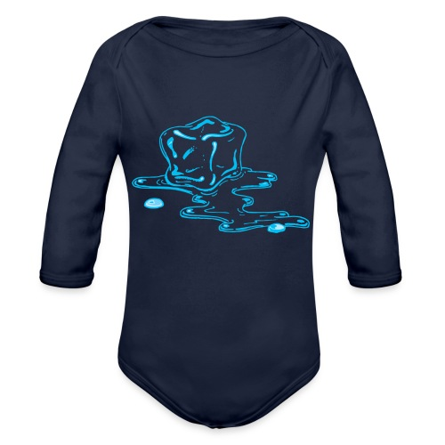 Ice melts - Organic Long Sleeve Baby Bodysuit