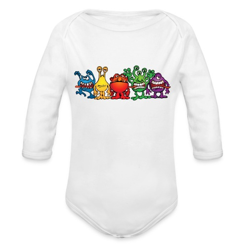 Alien Friends - Organic Long Sleeve Baby Bodysuit