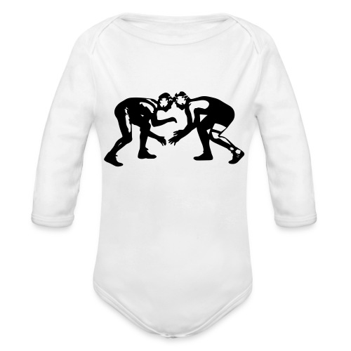 Wrestling TEAM Wrestlers - Organic Long Sleeve Baby Bodysuit