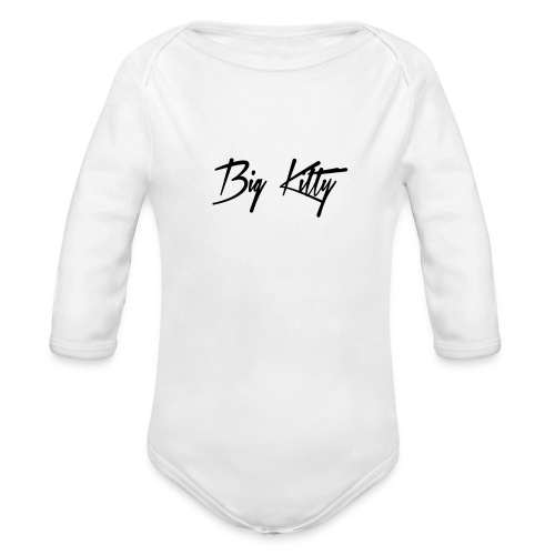 Big Kitty Logo - Organic Long Sleeve Baby Bodysuit
