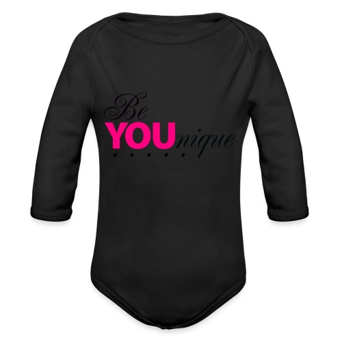 Be Unique Be You Just Be You - Organic Long Sleeve Baby Bodysuit