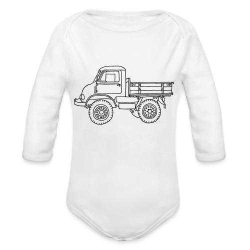 Off-road truck, transporter - Organic Long Sleeve Baby Bodysuit