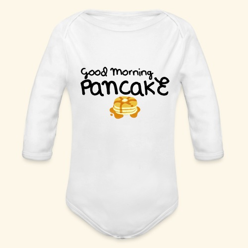 Good Morning Pancake Mug - Organic Long Sleeve Baby Bodysuit
