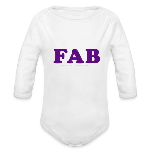FAB Tank - Organic Long Sleeve Baby Bodysuit