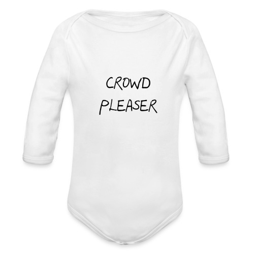 CROWDPLEASER - Organic Long Sleeve Baby Bodysuit