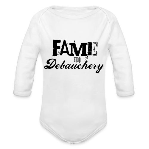 Fame from Debauchery - Organic Long Sleeve Baby Bodysuit