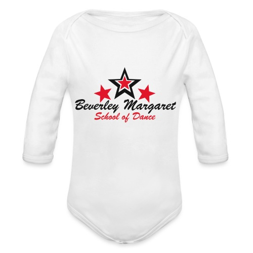 on white teen adult - Organic Long Sleeve Baby Bodysuit