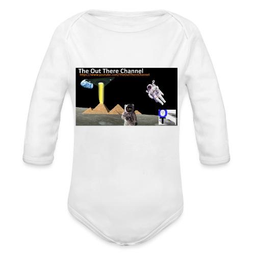UFO Pyramids v1 with Crew Back Logo - Organic Long Sleeve Baby Bodysuit
