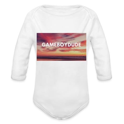 GameBoyDude merch store - Organic Long Sleeve Baby Bodysuit