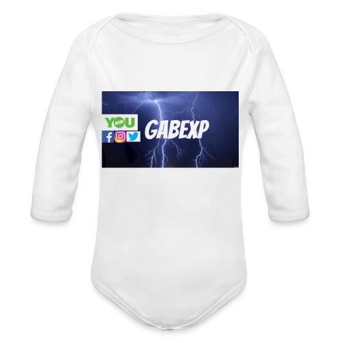 gabexp 1 - Organic Long Sleeve Baby Bodysuit