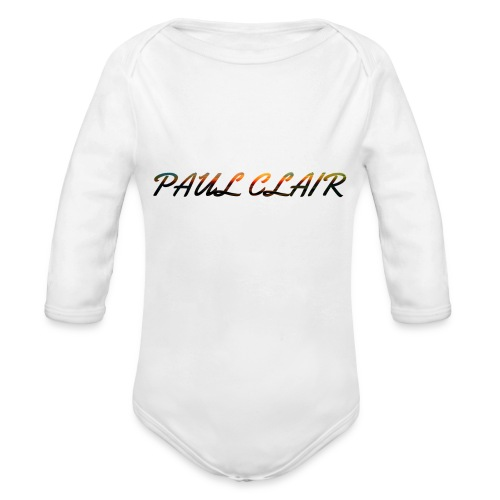 Rainbow Paul Clair Youth & Babies - Organic Long Sleeve Baby Bodysuit