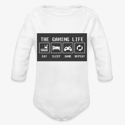 Gaming is life - Organic Long Sleeve Baby Bodysuit