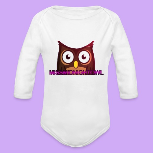 MissMidnightOwl Baby Owl Clothing - Organic Long Sleeve Baby Bodysuit
