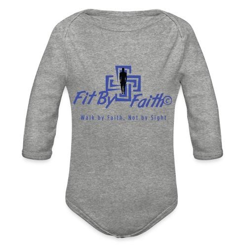 FitbyFaith back png - Organic Long Sleeve Baby Bodysuit