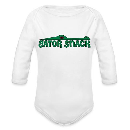 Gator Snack - Organic Long Sleeve Baby Bodysuit