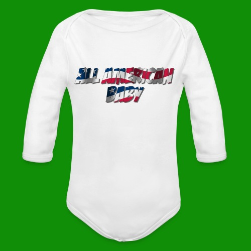 ALL AMERICAN BABY - Organic Long Sleeve Baby Bodysuit