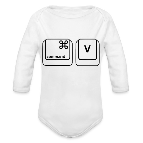 Command V - Organic Long Sleeve Baby Bodysuit