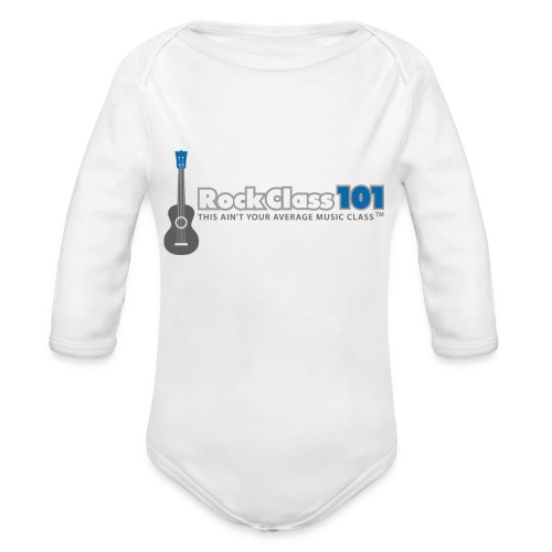 RC101 Logo - Organic Long Sleeve Baby Bodysuit